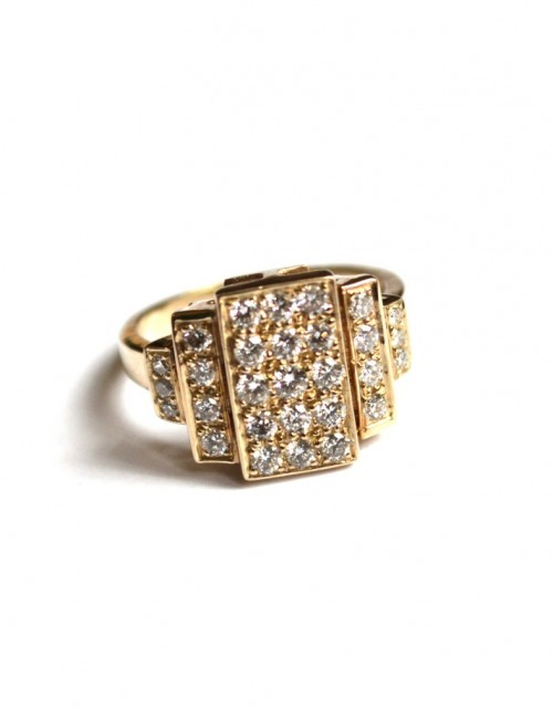 bague art deco diams